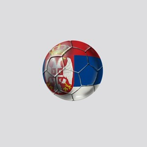 Serbian Football Mini Button